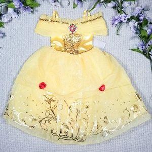Disney Store princess Belle classic yellow dress